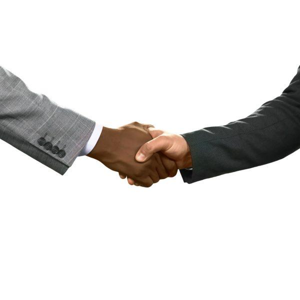 Businessman greeting each other. A friendly gesture. Value your allies. Thanks for everything.