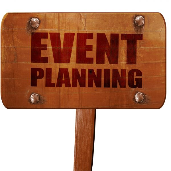event  planning, 3D rendering, text on direction sign