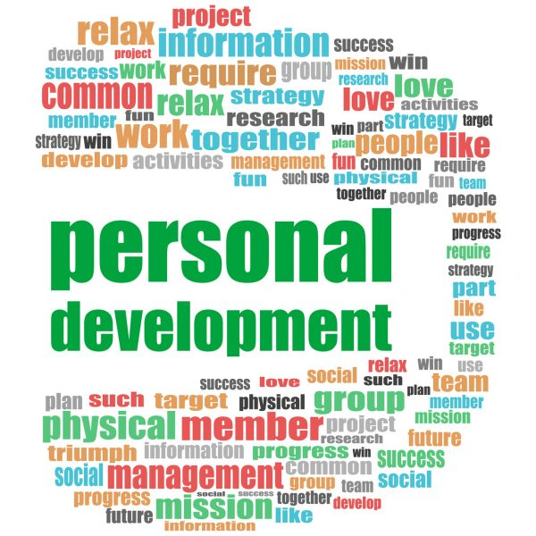 Text Personal Development. Business concept . Word cloud collage