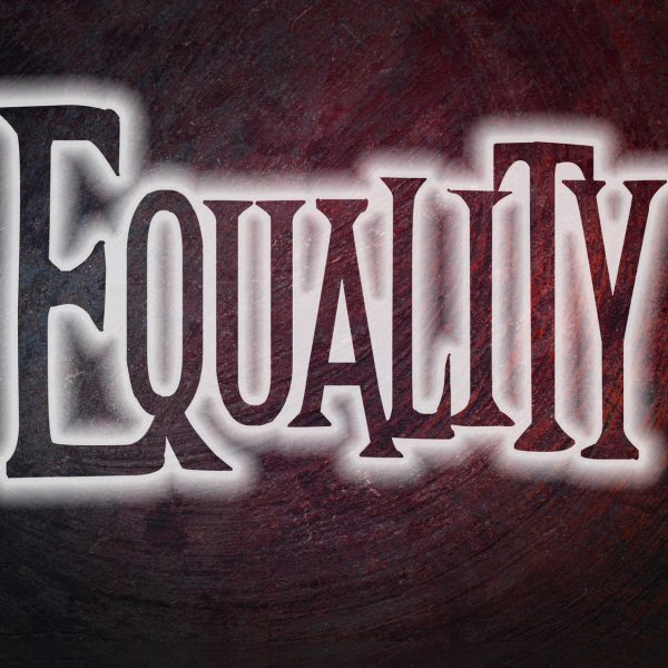Equality Concept text on background