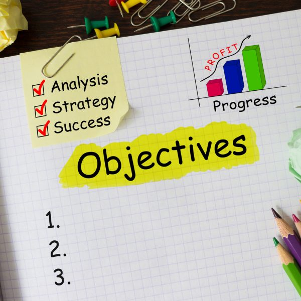 Notebook with Tools and Notes About Objectives
