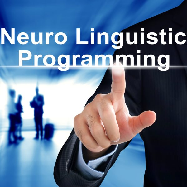 Businessman hand touching  Neuro Linguistic Programming (or NLP) sign  virtual screen
