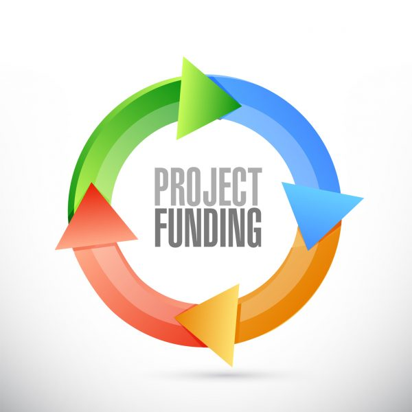 Project Funding color cycle sign concept illustration design graphic
