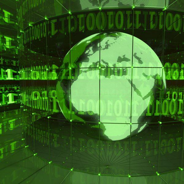 Digital World in Green